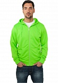 ТОЛСТОВКА URBAN CLASSICS NEON ZIP HOODY (ORANGE, M)