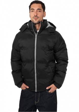 РљРЈР РўРљРђ URBAN CLASSICS BUBBLE LONG JACKET (BLACK-GREY, 3XL)