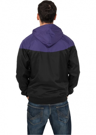 ВЕТРОВКА URBAN CLASSICS ARROW WINDRUNNER (BLACK-PURPLE, 3XL)
