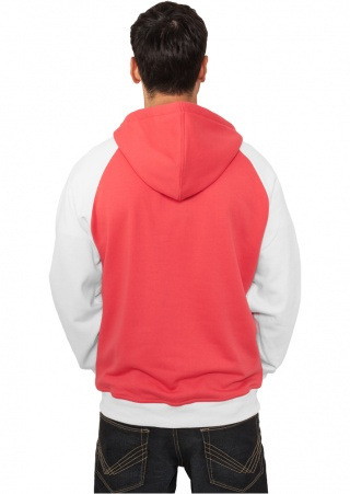 ТОЛСТОВКА URBAN CLASSICS BUTTON HOODY (INFRARED-WHITE, 2XL)